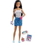 Boneca Barbie Skipper Babysitters Babá Morena Brunette Top