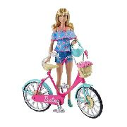 Bicicleta P/ Boneca Barbie Dreamhouse Adventures Mattel 2019