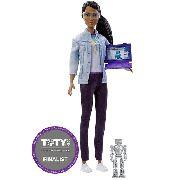 Boneca Barbie Engenheira Robótica Negra Profissão Ano 2019