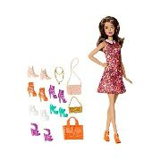 Boneca Barbie Dreamhouse Morena Sapatos E Bolsa Top