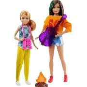 Bonecas Barbie Camping Fun Irmãs Skipper E Stacie Fogueira