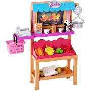 Mercado Mercearia Hortifruti Frutas Playset Barbie Mattel