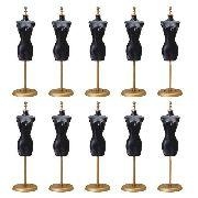5 Manequim De Roupas Da Boneca Barbie Expositor Cabide