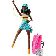 Boneca Barbie Made To Move Negra Articulada Alpinista Escala