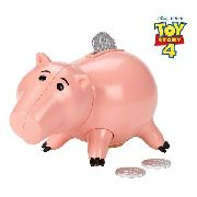 Boneco Disney Pixar Toy Story 4 Porquinho Hamm Cofre 9 Cm