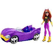 Carro E Boneca Batgirl Batmóvel Roxo Dc Mattel Top