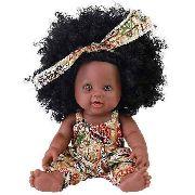 Boneca Bebê Reborn Menina Morena Cabelo Black 30cm