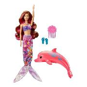 Boneca Barbie Dolphin Magic Transformando Sereia C/ Golfinho