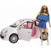 Boneca Barbie E Carro Fiat 500 Branco Alta Qualidade Top