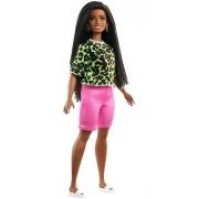 Boneca Barbie Fashionista 144 Cabelo Trançado Negra Morena