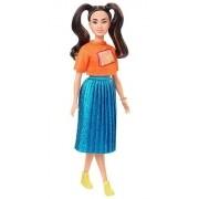 Boneca Barbie Fashionista 145 Tranças Longas Morena Original