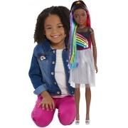 Boneca Barbie Negra Grande Arco-iris 71cm Importada Mattel