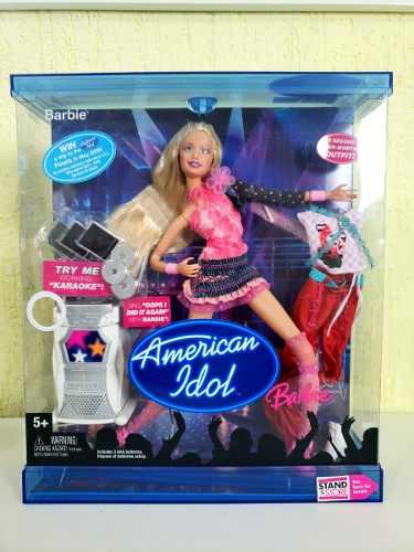 Boneca Barbie American Idol 2004 Loira Com Karaokê Rara Top