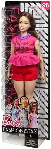 Boneca Barbie Fashionista 98 Shorts Vermelho Linda Rara 2019