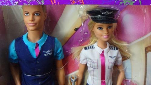 Boneca Barbie Capitã Avião E Ken Comissário De Bordo Top