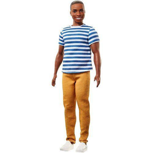 Boneco Ken Barbie Fashionista 18 Negro Careca Top 2018