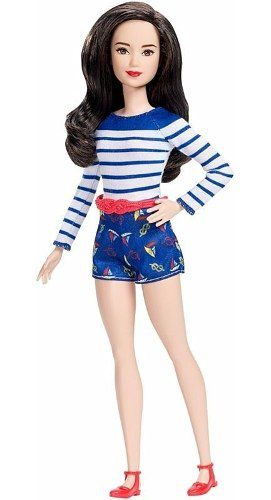 Boneca Barbie Fashionista 61 Nice Nautical Petite Shorts Top