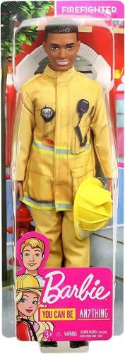 Boneco Ken Barbie Fashionista Profissões Bombeiro Top 2019