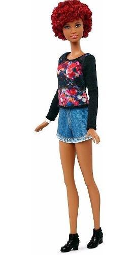 Boneca Barbie Fashionista 33 Fab Fringe Alta Negra Top Rara