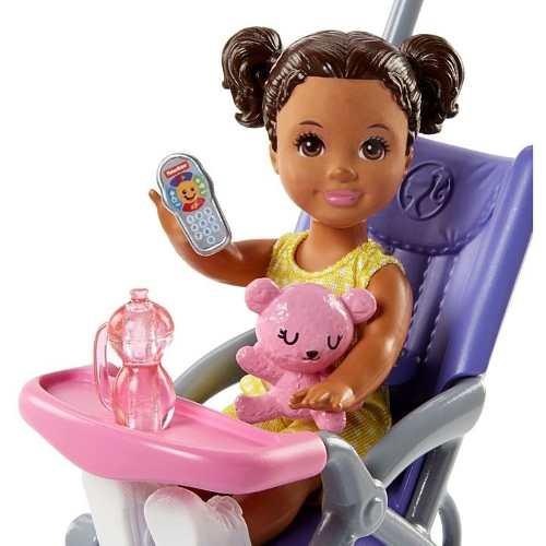 Boneca Barbie Skipper Babysitters Com Carrinho E Bebê 2019