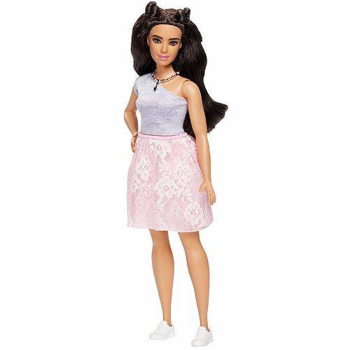 Boneca Barbie Fashionista 65 Curvy Gordinha Saia Rosa Top