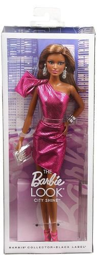 Boneca Barbie Collector The Look City Morena Vestido Rosa