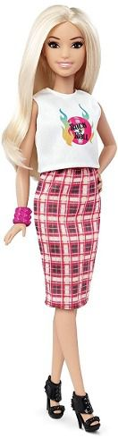 Boneca Barbie Fashionista 31 Rock 'n' Roll Petite Rara Top