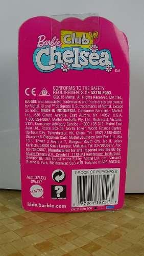 Boneca Barbie Club Chelsea Criança Cabelo Preto Top