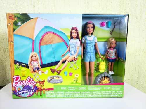 Boneca Barbie Skipper E Chelsea Com Barraca Camping Top 2019