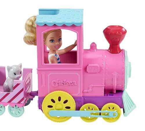Boneca Barbie Club Chelsea Loira E Choo-choo Trenzinho Pets