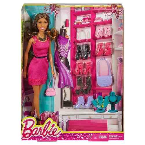 Boneca Barbie Dreamhouse Negra Top Vestido Rosa Acessórios