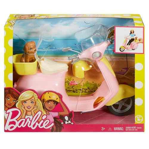Scooter Mattel Moto Da Barbie Dreamhouse Com Cachorro Top