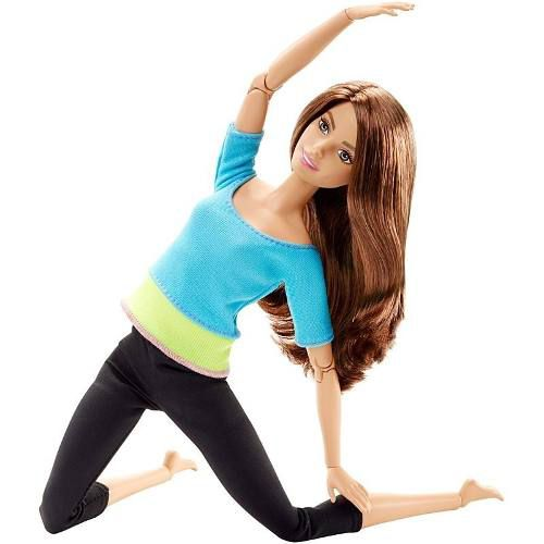 Boneca Barbie Articulada Teresa Turquesa Yoga Made To Move