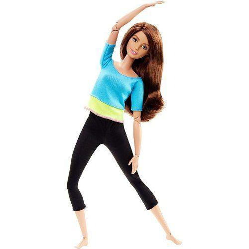 Boneca Barbie Articulada Teresa Turquesa Yoga Made To Move