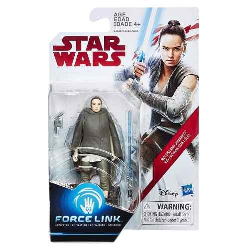 Star Wars Rey (island Journey) Force Link Figure Hasbro Top