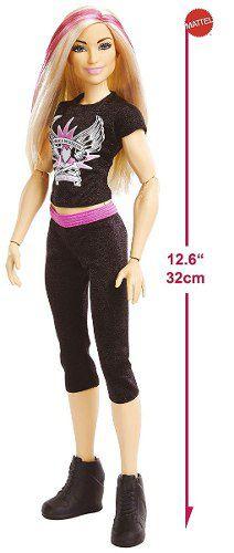 Boneca Barbie Superstars Wwe Natalya Loira Fashion Rock