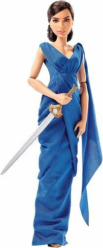 Boneca Barbie Mulher Maravilha Diana Prince Azul Mattel Top