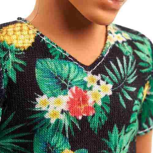 Boneco Ken Barbie Fashionista 15 Calça Jeans Flores Top 2019