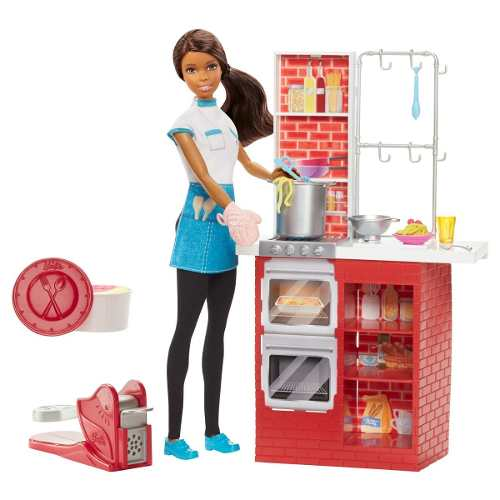 Boneca Barbie Spaghetti Cozinha Morena Casa Da Barbie 2019