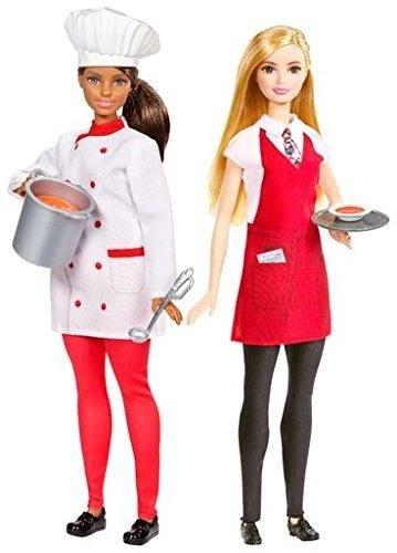 Boneca Barbie Chefe De Cozinha E Garçom Com Acessórios Rara