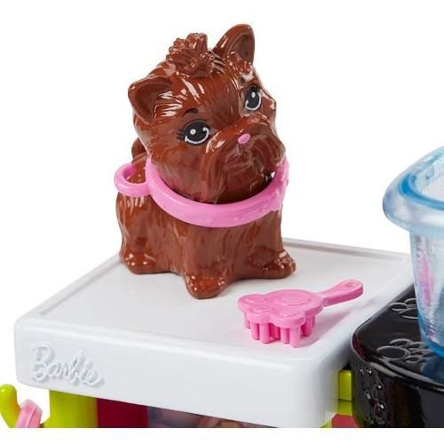 Boneca Barbie Veterinária Negra Pet Shop Cachorro 2019 Top