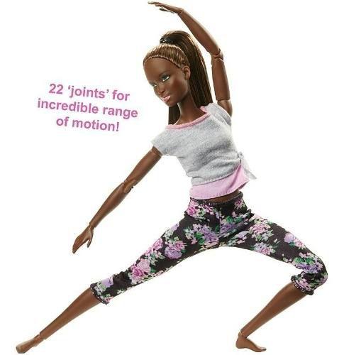 Boneca Barbie Articulada Negra Yoga Made To Move Top Eua