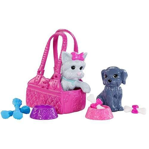 Boneca Barbie Loira Cuidadora 2 Gatos Pets Rara
