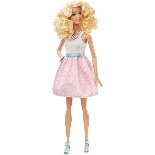 Boneca Barbie Fashionista 14 Loira Vestido Rosa Top