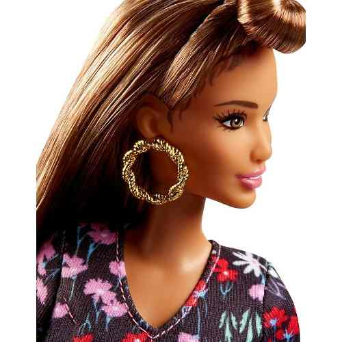 Boneca Barbie Fashionista 73 Macacão Brinco Top Rosey Romper