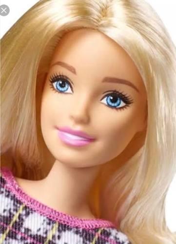 Boneca Barbie Fashionista 58 Loira Vestido Tubo Peplum Power