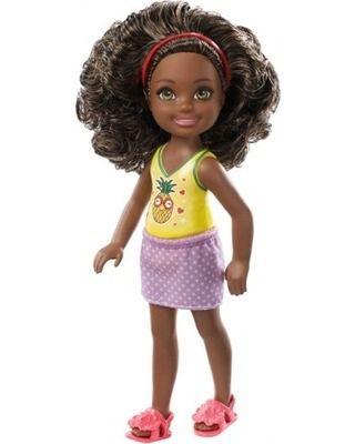 Boneca Filha Barbie Clube Chelsea Brunette Criança Negra