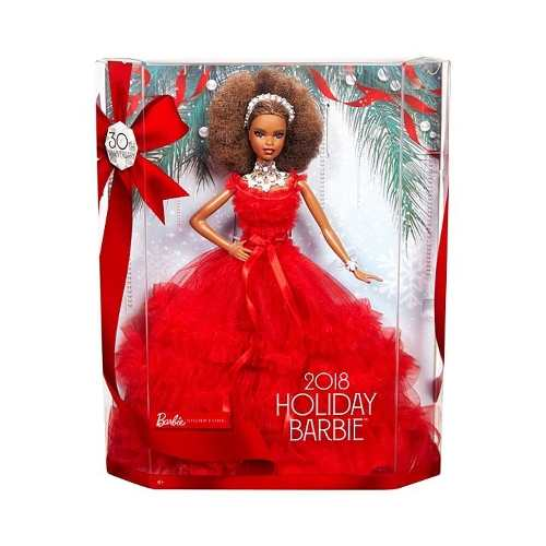 Boneca Barbie Collector Especial 2018 Negra Luxo Vermelha