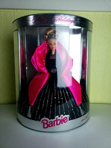 Boneca Barbie Loira Happy Holidays 1998 Alto Luxo Top Rara