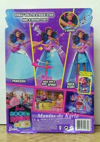 Boneca Barbie Negra Rock N' Royals Erika Canta Música Mattel